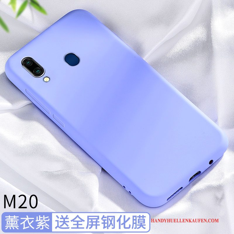 Hülle Für Samsung Galaxy M20 Netto Rot Silikon Alles Inklusive Kreativ Muster Case