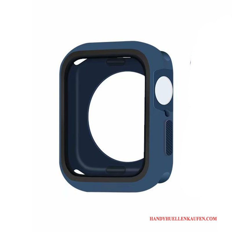 Hülle Für Apple Watch Series 5 Case Grenze Alles Inklusive Blau Silikon