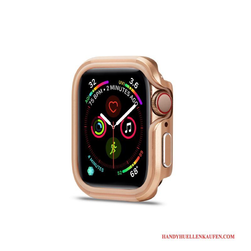Hülle Für Apple Watch Series 5 Pu Anti-sturz Metall Trend Neu