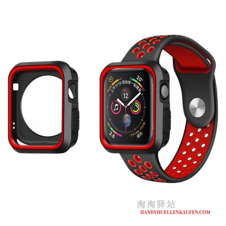 Hülle Für Apple Watch Series 5 Sport Case Rot Anti-sturz Schutz