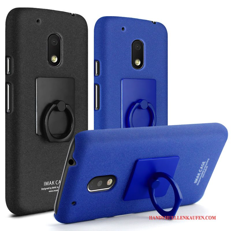 Hülle Für Moto G4 Play Case Ring Handy Denim Neu