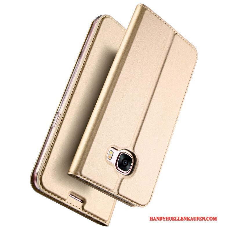 Hülle Für Samsung Galaxy A7 2017 Handy Business Anti-sturz Gold Case Leicht